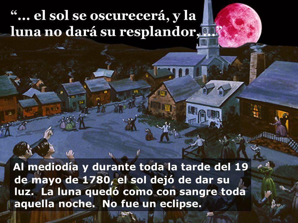 ... el sol se oscurecerá, y la luna no dará su resplandor, ...