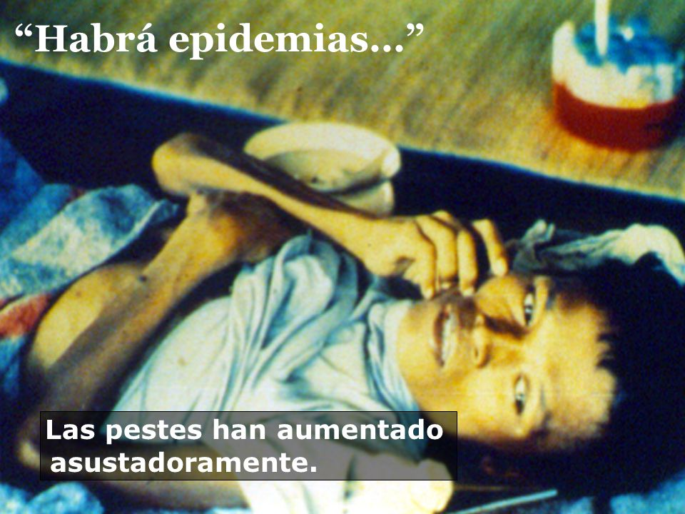 Habrá epidemias... Las pestes han aumentado asustadoramente.