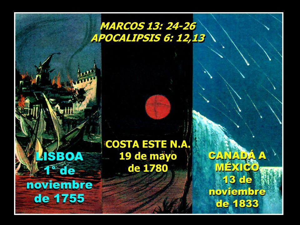 LISBOA 1° de noviembre de 1755 MARCOS 13: 24-26 APOCALIPSIS 6: 12,13