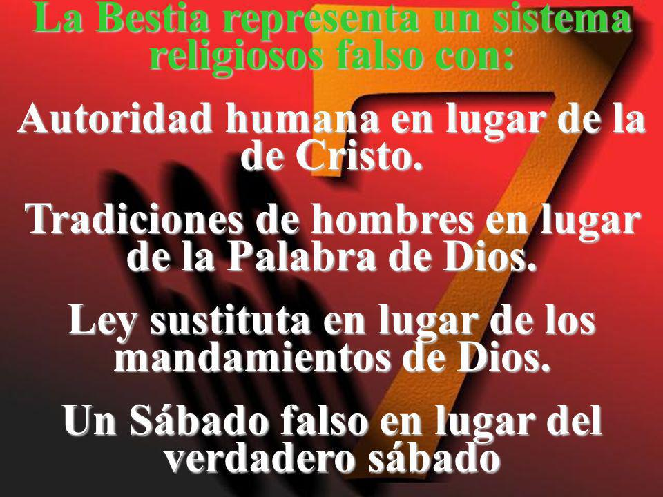 La Bestia representa un sistema religiosos falso con: