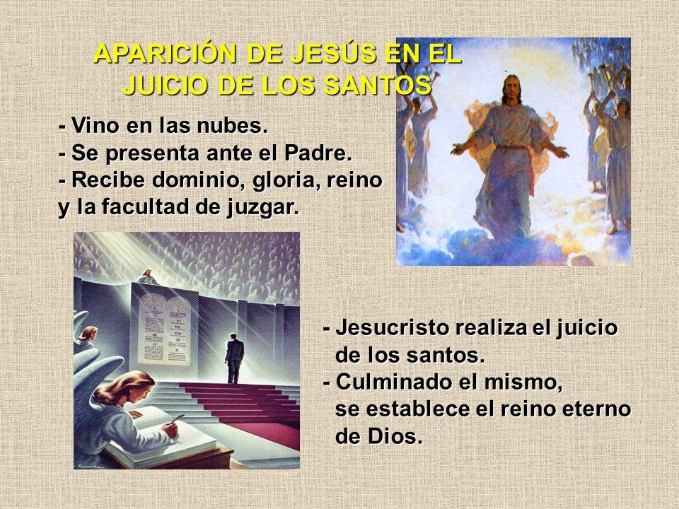 APARICIÓN DE JESÚS EN EL JUICIO DE LOS SANTOS