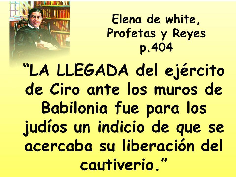 Elena de white, Profetas y Reyes p.404