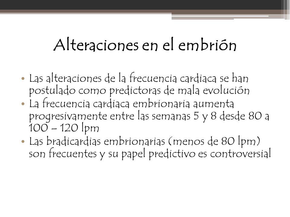 Alteraciones en el embrión