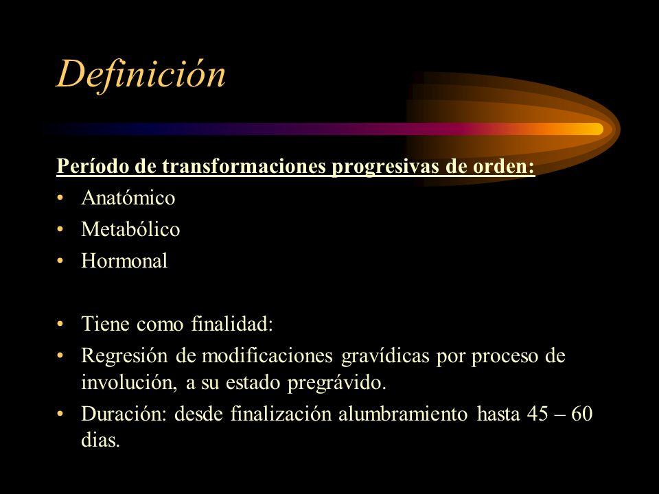 Definición Período de transformaciones progresivas de orden: Anatómico