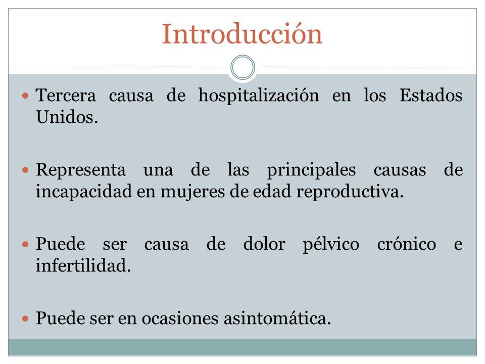 Introducción Tercera causa de hospitalización en los Estados Unidos.
