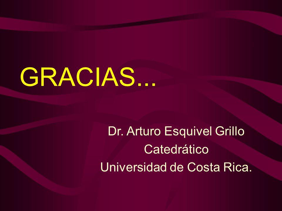 GRACIAS... Dr. Arturo Esquivel Grillo Catedrático