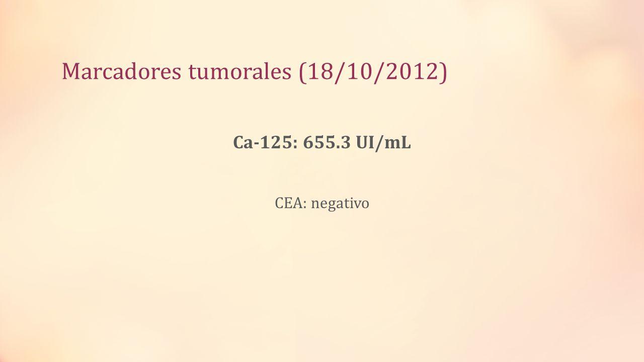 Marcadores tumorales (18/10/2012)