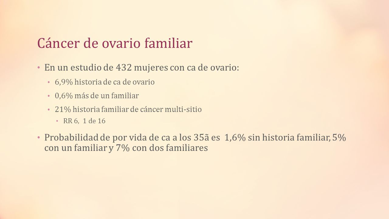 Cáncer de ovario familiar