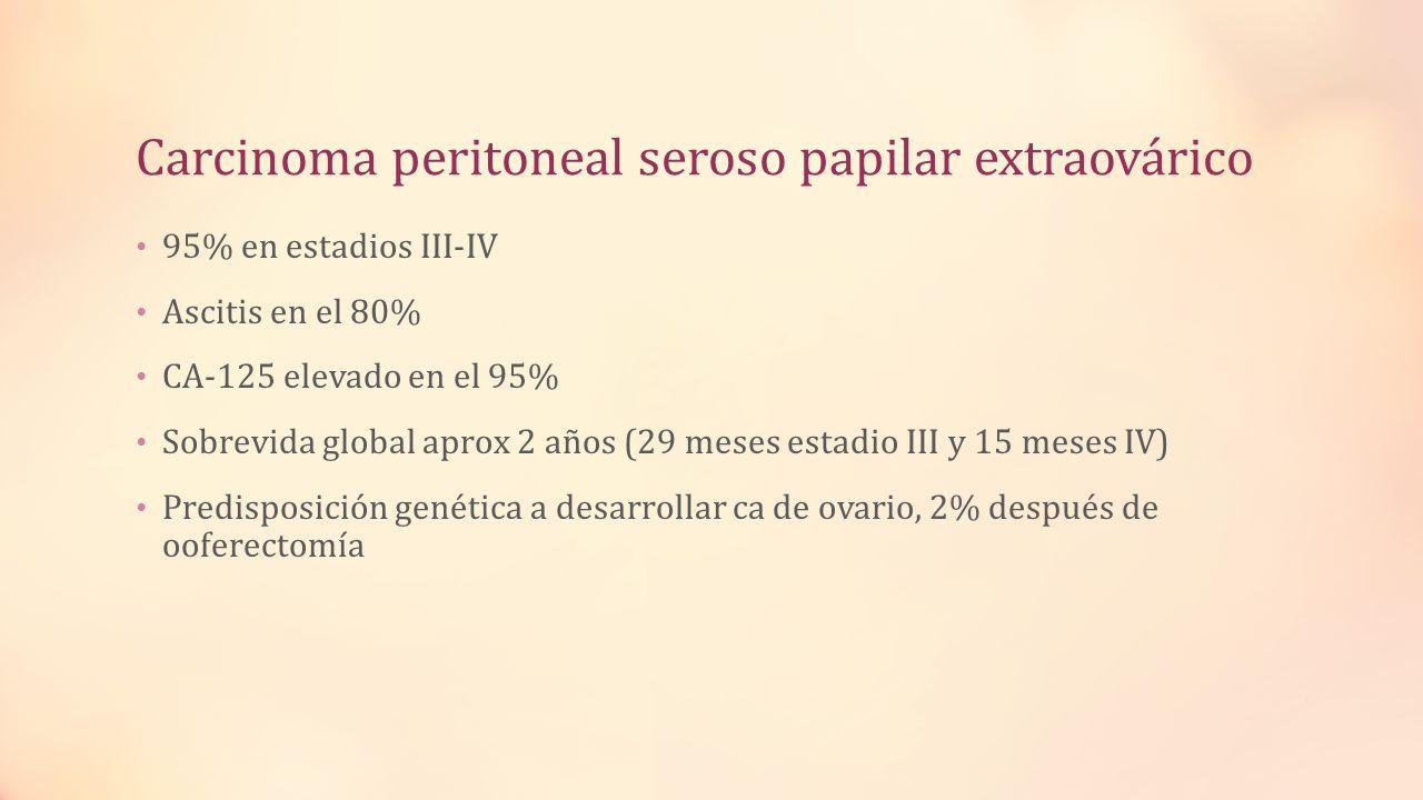 Carcinoma peritoneal seroso papilar extraovárico