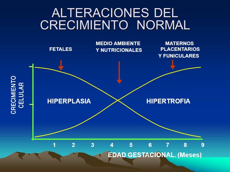 ALTERACIONES DEL CRECIMIENTO NORMAL