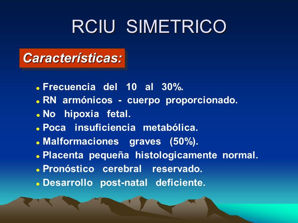 RCIU SIMETRICO Características: Frecuencia del 10 al 30%.