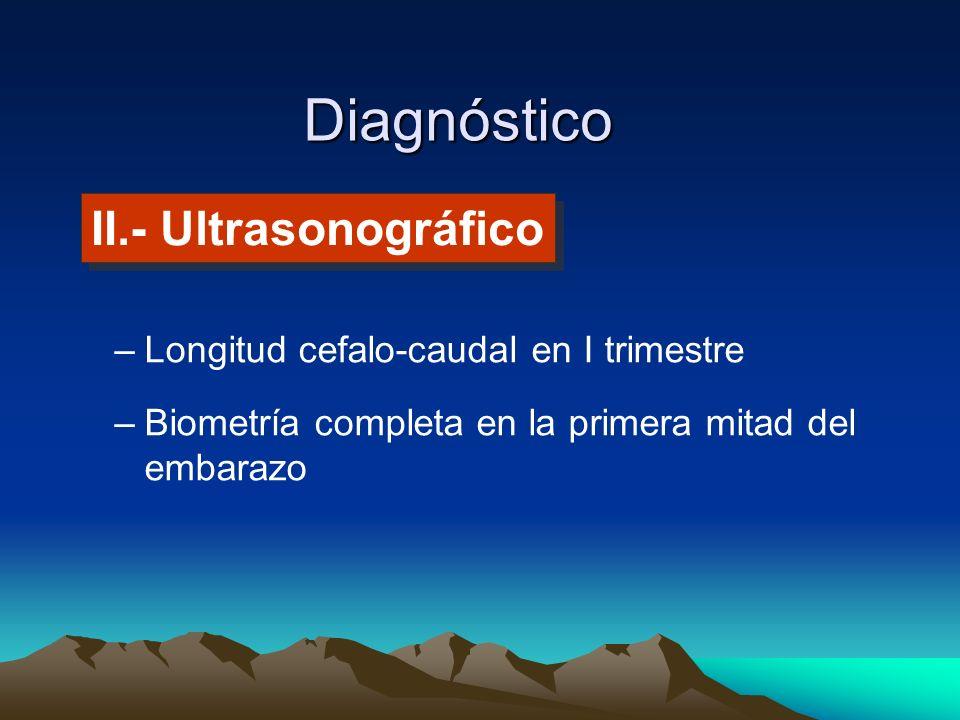 Diagnóstico II.- Ultrasonográfico