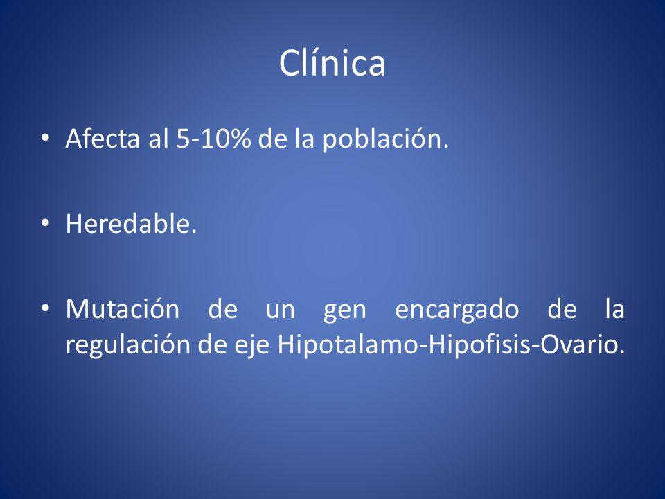 Clínica Afecta al 5-10% de la población. Heredable.