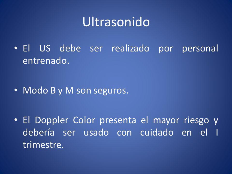 Ultrasonido El US debe ser realizado por personal entrenado.
