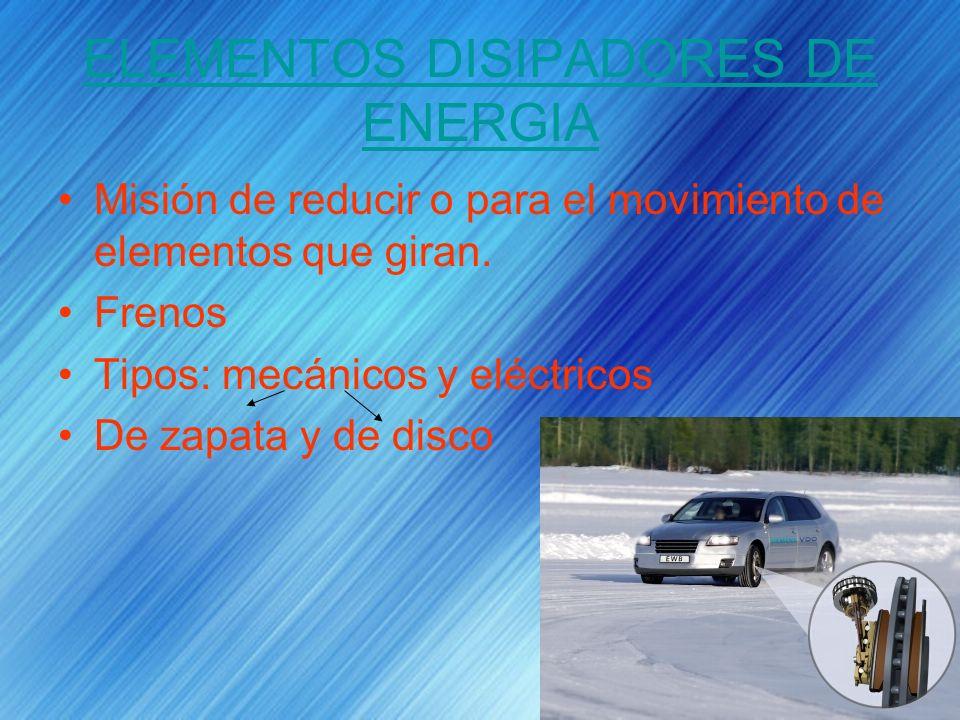 ELEMENTOS DISIPADORES DE ENERGIA