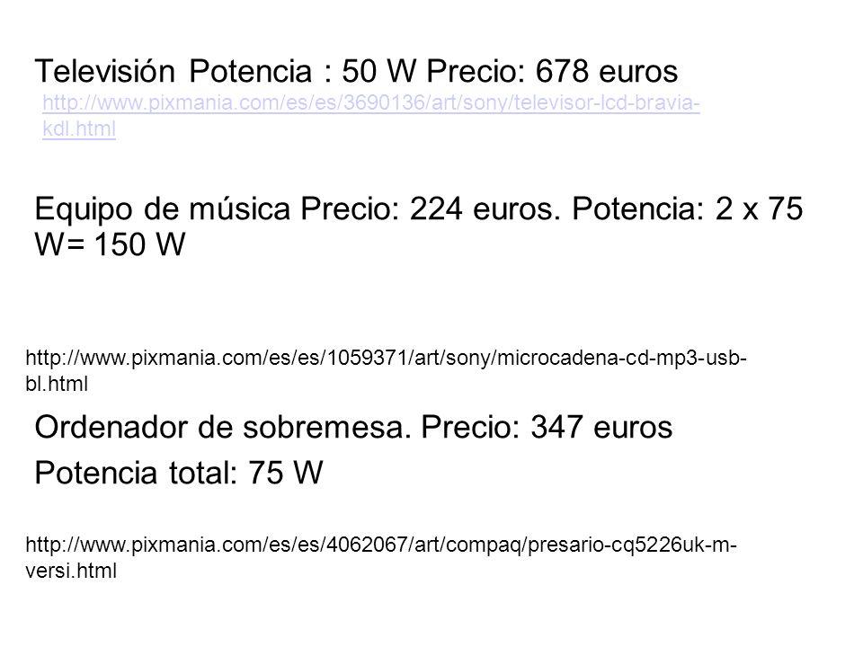 Televisión Potencia : 50 W Precio: 678 euros