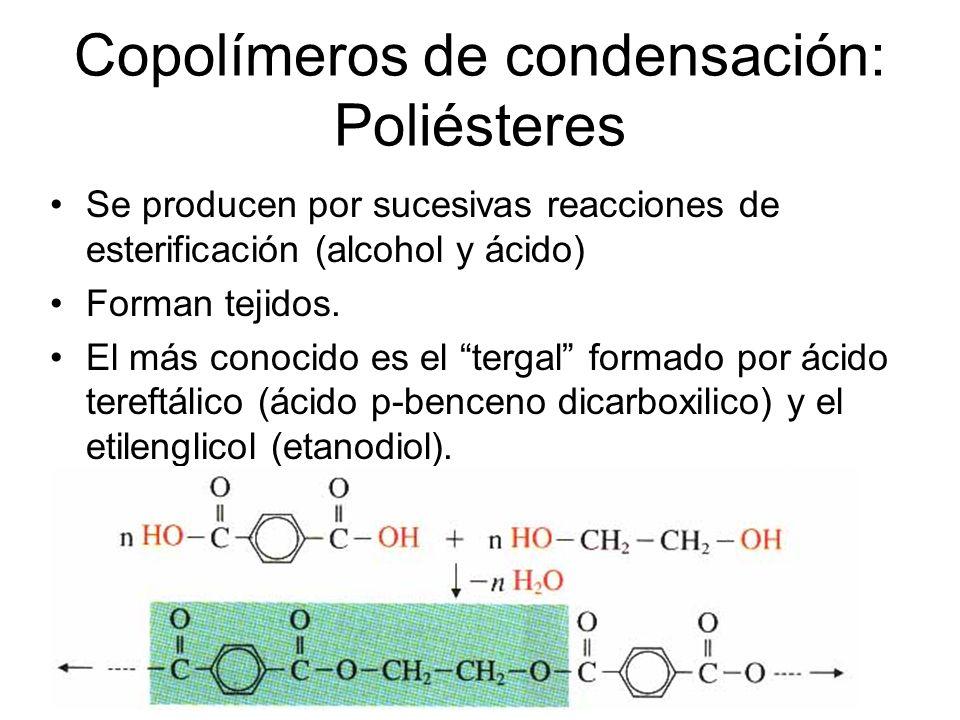 Copolímeros de condensación: Poliésteres