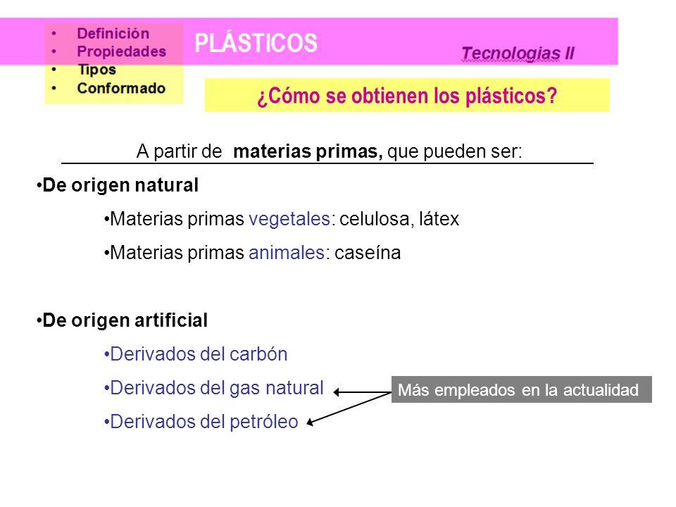¿Cómo se obtienen los plásticos