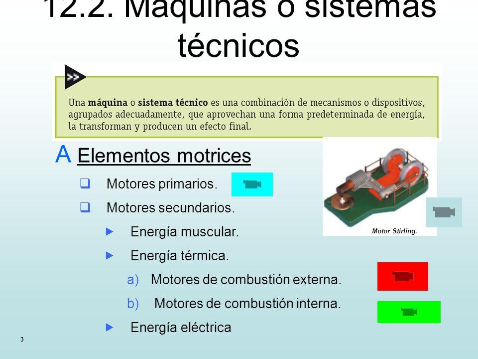 12.2. Máquinas o sistemas técnicos