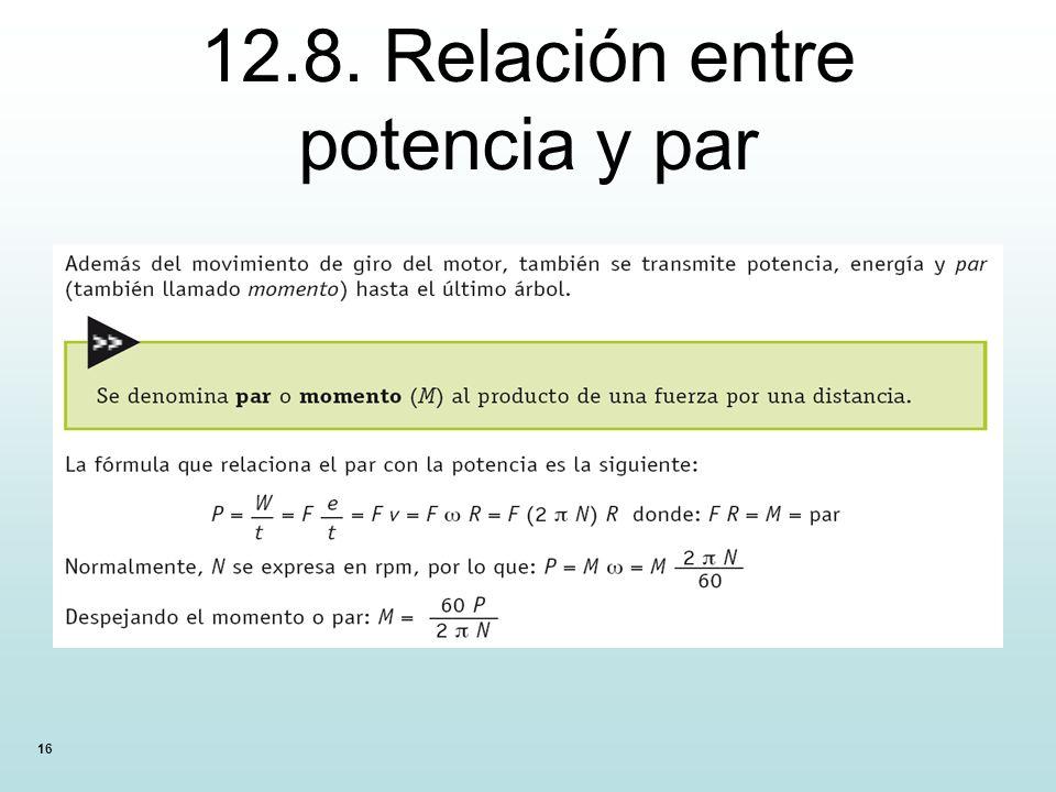 12.8. Relación entre potencia y par