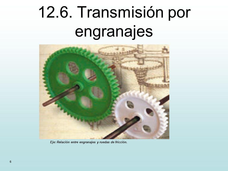 12.6. Transmisión por engranajes