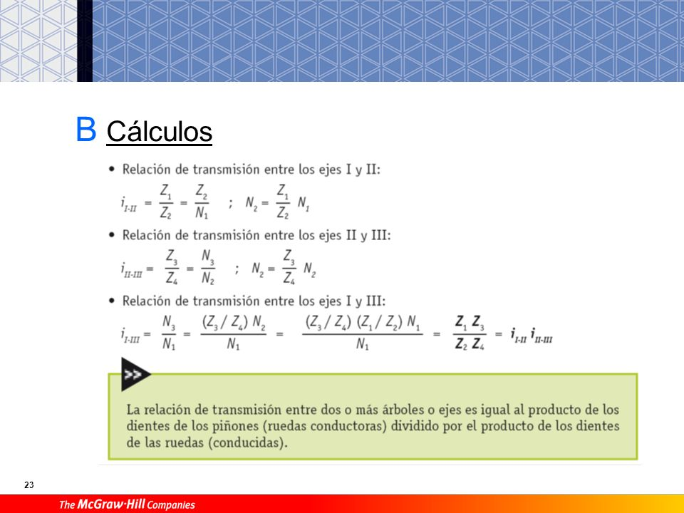 B Cálculos