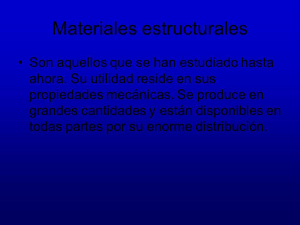 Materiales estructurales