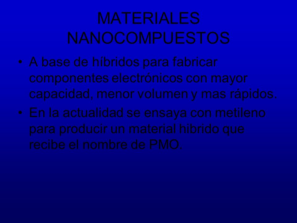 MATERIALES NANOCOMPUESTOS