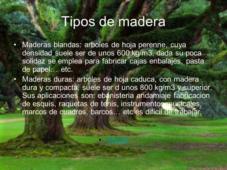 Tipos de madera