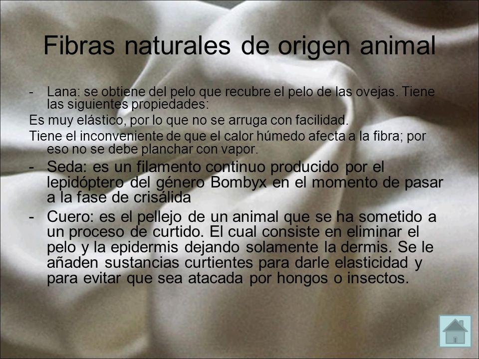 Fibras naturales de origen animal