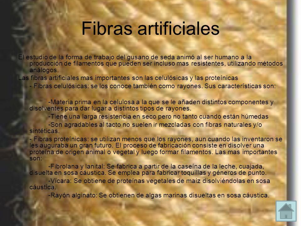 Fibras artificiales