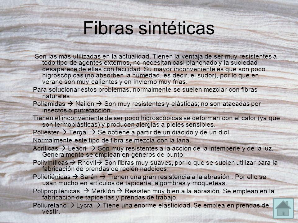 Fibras sintéticas