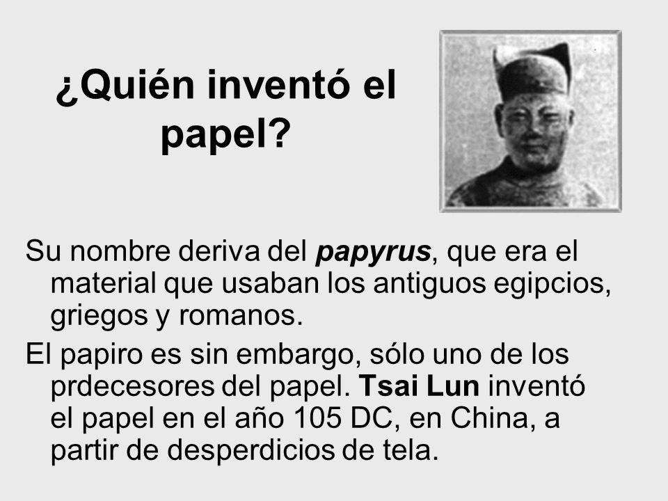 ¿Quién inventó el papel
