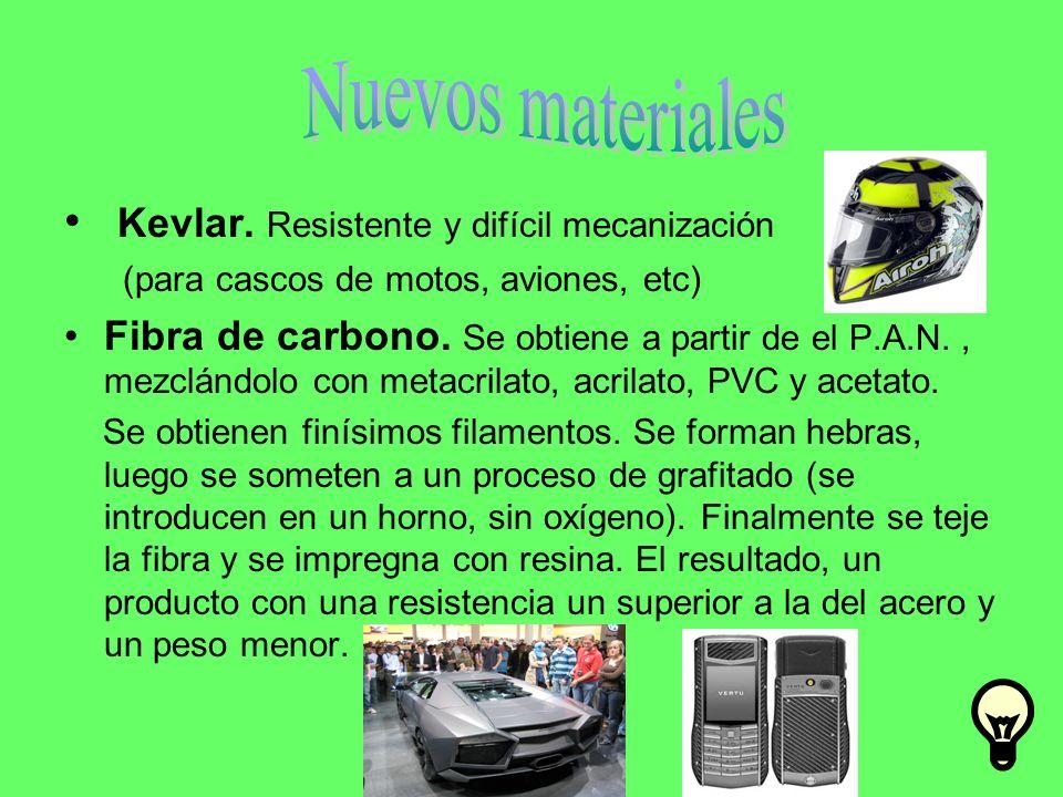 Nuevos materiales Kevlar. Resistente y difícil mecanización