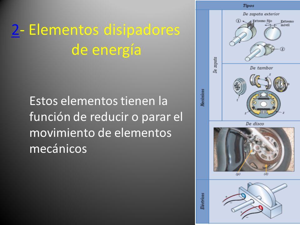 2- Elementos disipadores de energía