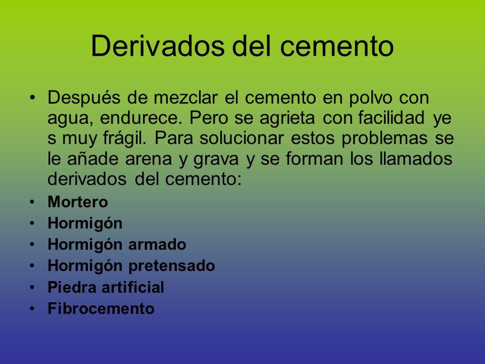 Derivados del cemento