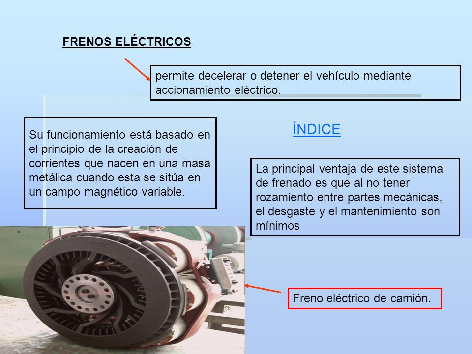 ÍNDICE FRENOS ELÉCTRICOS