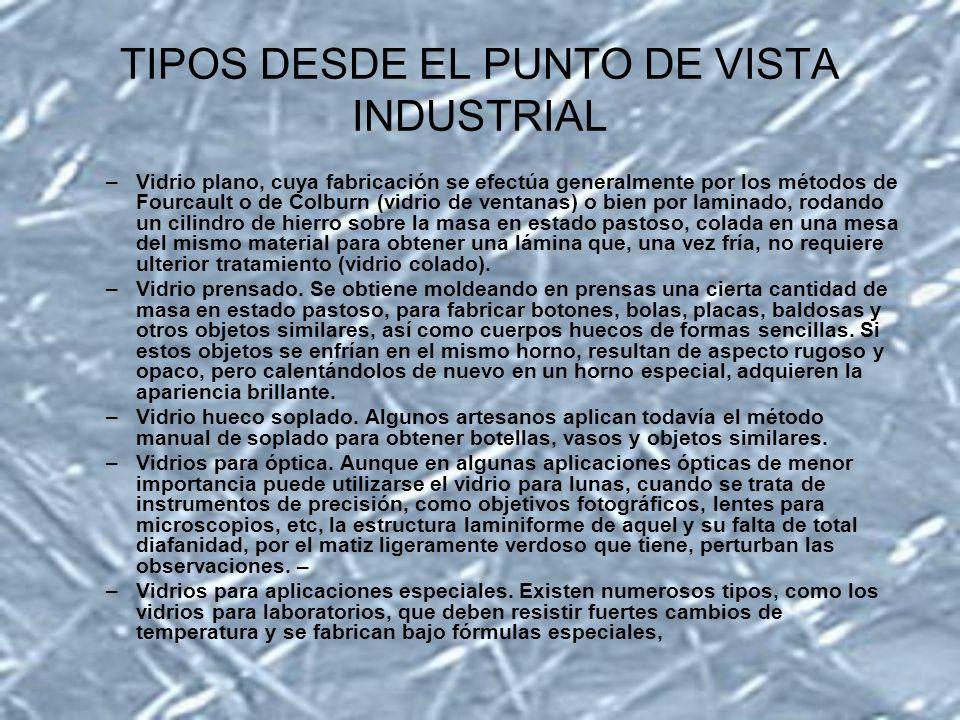 TIPOS DESDE EL PUNTO DE VISTA INDUSTRIAL