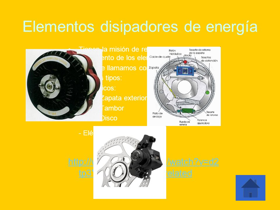 Elementos disipadores de energía