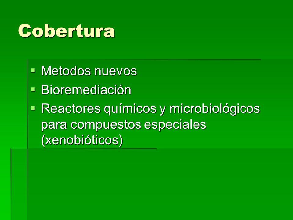 Cobertura Metodos nuevos Bioremediación