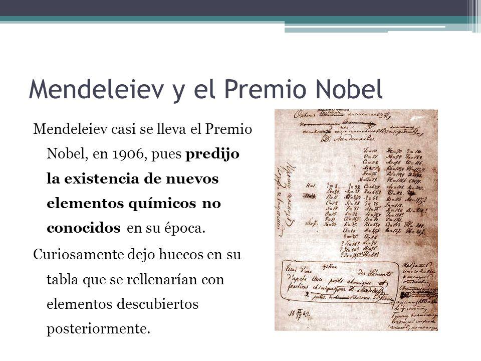 Mendeleiev y el Premio Nobel