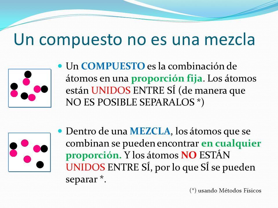 Un compuesto no es una mezcla