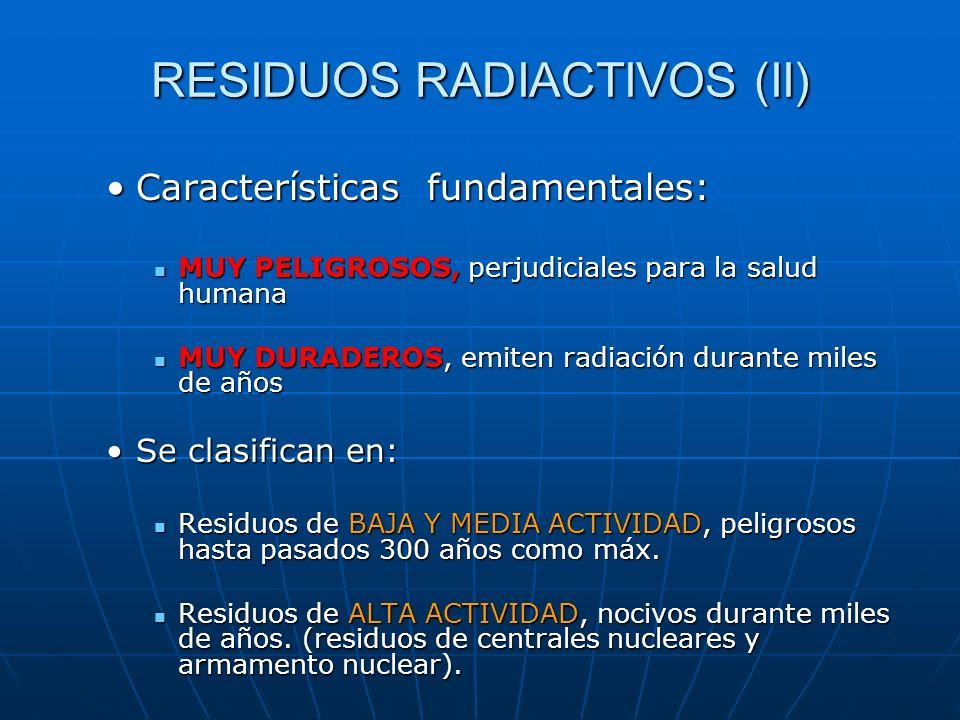 RESIDUOS RADIACTIVOS (II)