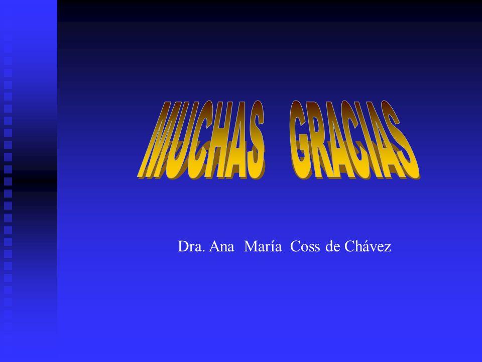 MUCHAS GRACIAS Dra. Ana María Coss de Chávez