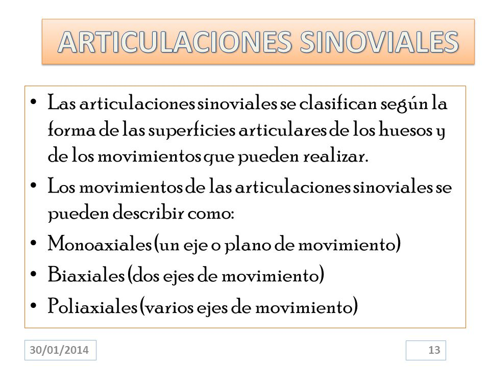 ARTICULACIONES SINOVIALES