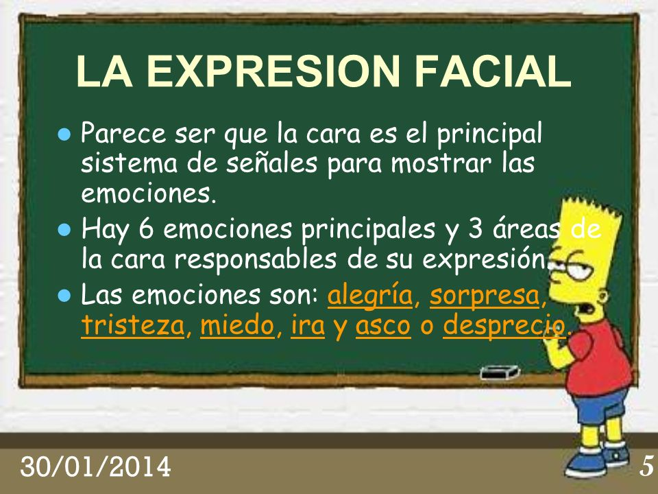 LA EXPRESION FACIALParece ser que la cara es el principal sistema de señales para mostrar las emociones.