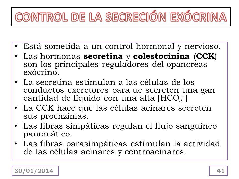CONTROL DE LA SECRECIÓN EXÓCRINA