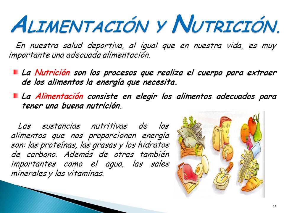 ALIMENTACIÓN Y NUTRICIÓN.