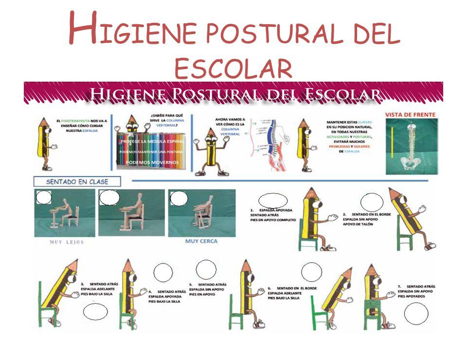 HIGIENE POSTURAL DEL ESCOLAR