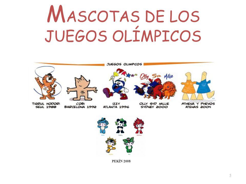 MASCOTAS DE LOS JUEGOS OLÍMPICOS